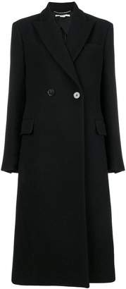 Stella McCartney single button peaked coat