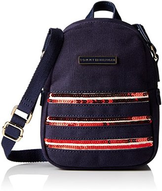 Tommy Hilfiger Canvas Flag Mini Backpack Crossbody $15.48 thestylecure.com