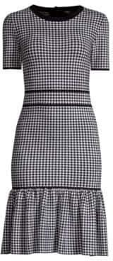 Michael Kors Gingham Stretch Sheath Dress