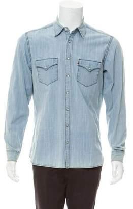 Burberry Denim Button-Up Shirt