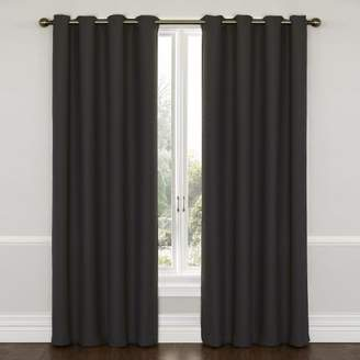 Eclipse Curtains Eclipse 12968052084CHR Wyndham 52-Inch by 84-Inch Grommet Brushed Nickel Blackout Single Window Curtain Panel