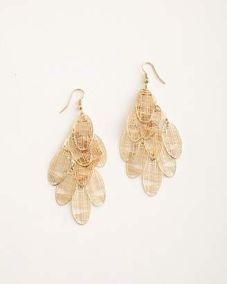 Chico's Chicos Gold-Tone Cutout Chandelier Earrings