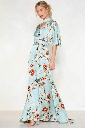 Nasty Gal Queen of Peace Floral Dress