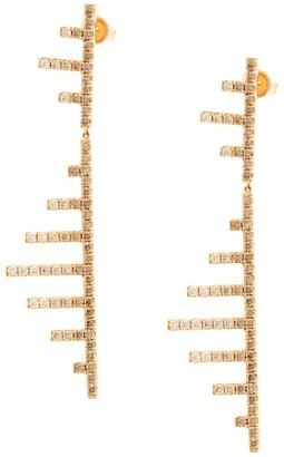 Eva Fehren 18kt rose gold Axis diamond earrings