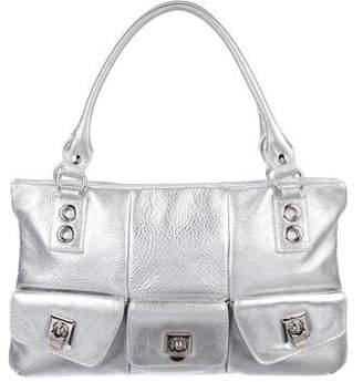 Sigerson Morrison Metallic Leather Shoulder Bag