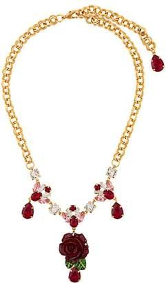 Dolce & Gabbana crystal rose necklace