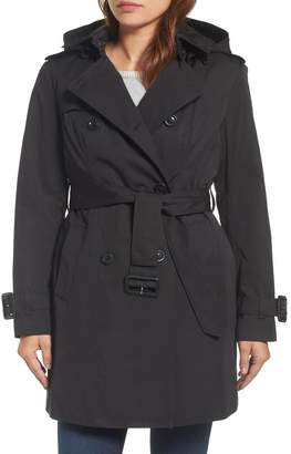 London Fog Heritage Double Breasted Lined Trench Coat (Regular & Petite)