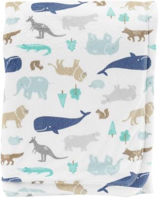 Carter's Baby Boy Animal Velboa Blanket