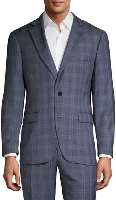 Black Brown 1826 Checkered Wool Suit Jacket