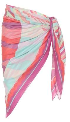 83d5898b9e4be Emilio Pucci Beach Printed cotton sarong