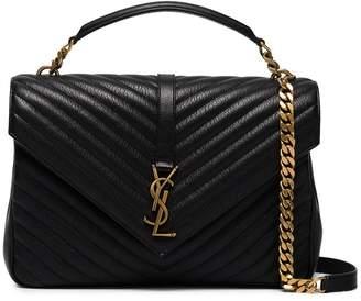 Saint Laurent Black collège leather shoulder bag