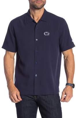Tommy Bahama College Team Sports Catalina Silk Short Sleeve Standard Fit Shirt