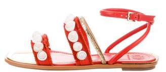 Tory Burch Sinclair Embellished Sandals w/ Tags