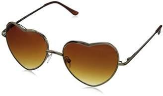 A. J. Morgan A.J. Morgan Women's Heart of Glass Round Sunglasses
