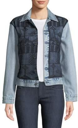 Levi's Embroidered Boyfriend Trucker Denim Jacket