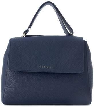 Orciani Blue Tumbled Handbag