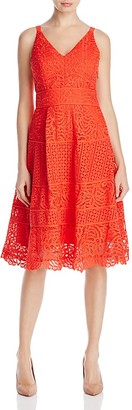 Adelyn Rae Laureen Lace Fit-and-Flare Dress $127 thestylecure.com