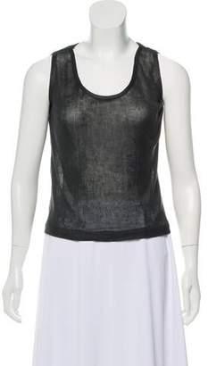 Calvin Klein Collection Sleeveless Silk Top