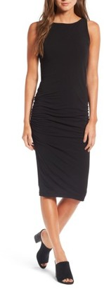 Women's James Perse High Neck Shirred Dress $195 thestylecure.com