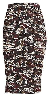 Victoria Beckham Women's Camo Pencil Skirt