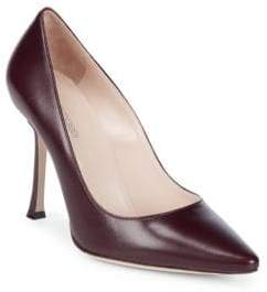 Sergio Rossi Point Toe Leather Pumps