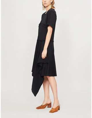 J.W.Anderson Asymmetric cotton-jersey dress
