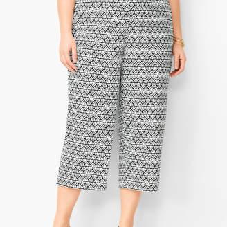 322095e2a6f8 Talbots Plus Size Knit Jersey Wide-Leg Crops - Diamond Print