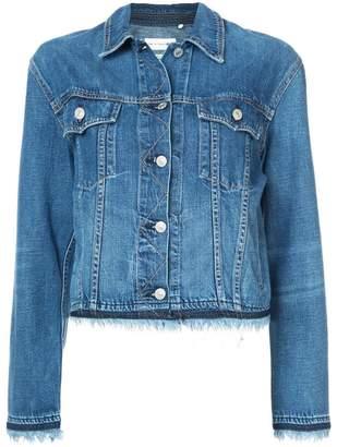 Rag & Bone fringed trim denim jacket
