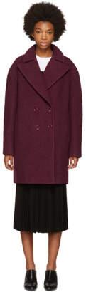 Carven Burgundy Boule Coat