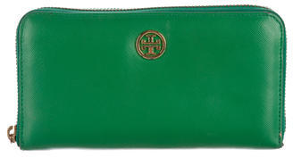 Tory Burch Tory Burch Saffiano Leather Logo Wallet