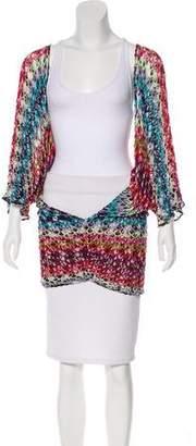 Missoni Mare Dolman Sleeve Crochet-Knit Tunic