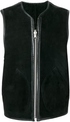 YMC leather trim gilet