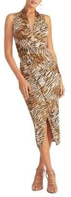Rachel Roy Tiger-Print Halter Sheath Dress