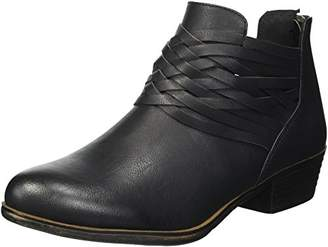 Sugar Women's Rhett Casual Boho Short Bootie with Criss Cross Straps Ankle Boot