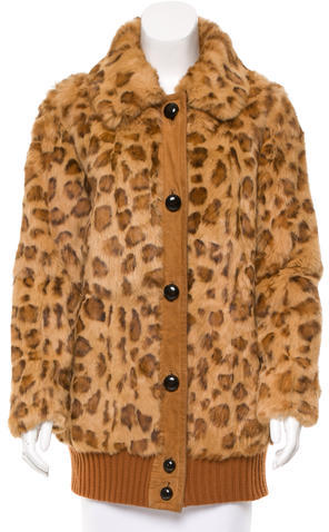 Marc By Marc Jacobs Marc by Marc Jacobs Leopard Print Fur Coat