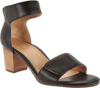 Vionic Block Heel Leather Sandals - Solana