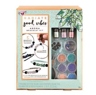 Fashion Angels DIY Craft Kit Radiate Good Vibes Crystal Aroma Infused Bracelets with 3 Fragrance