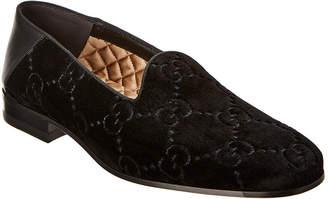 Gucci Velvet & Leather Loafer