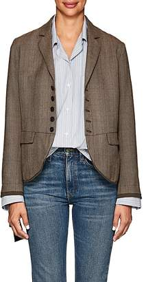 Pas De Calais Women's Checked Wool Hopsack Blazer