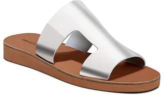Via Spiga Women's Blanka Patent Leather Slide Sandals
