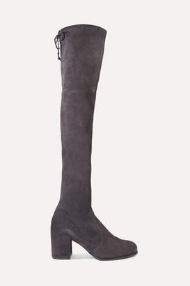 Stuart Weitzman Tieland Stretch-suede Over-the-knee Boots