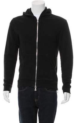 Balmain Knit Zipper-Accented Hoodie