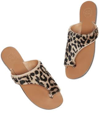 Atelier Atp ATP Rosa Leopard Fur Sandal