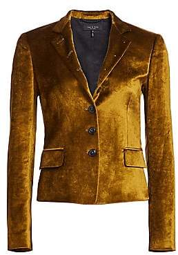 Rag & Bone Women's Rei Velvet Notch Collar Tailored Blazer