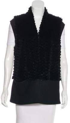 Helmut Lang Fur Patterned Vest