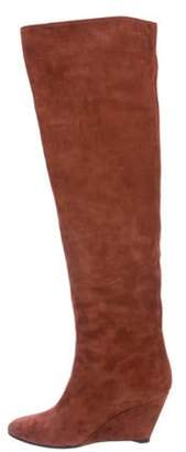 Giuseppe Zanotti Suede Over-The-Knee Boots Brown Suede Over-The-Knee Boots