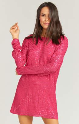 Show Me Your Mumu Iggy Dress ~ Beaded Sequins Fuchsia
