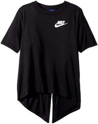 Nike Sportswear Split Short Sleeve Top Girl's Clothing