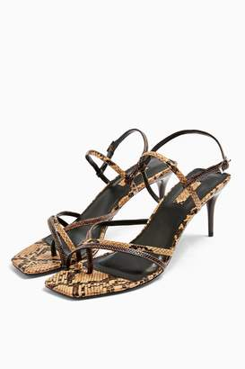 Topshop NICOLE Snake Strappy Sandals