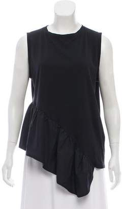 Liviana Conti Asymmetrical Sleeveless Top